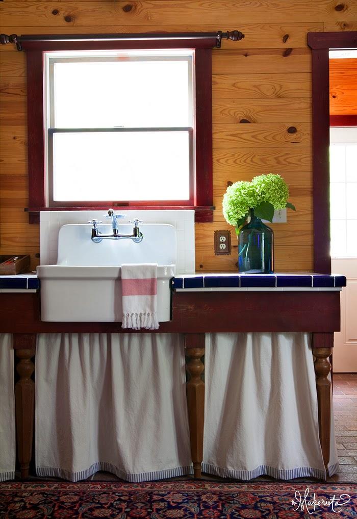 The-Makerista-Cabin-Kitchen-Counter-Curtains-Farmhouse-Sink ...