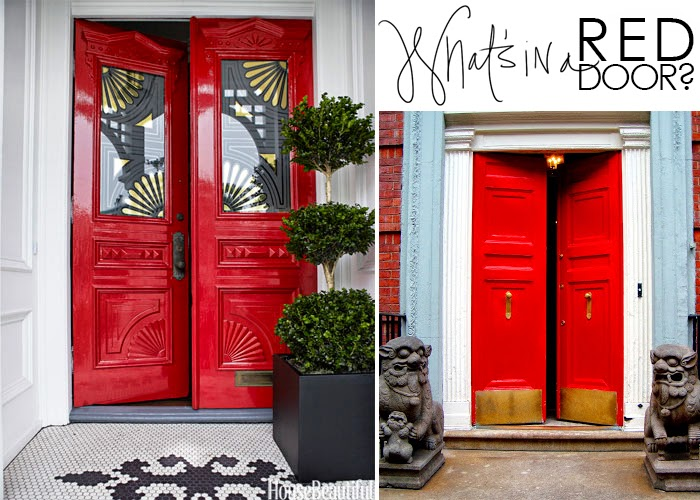 What S In A Red Door The Makerista