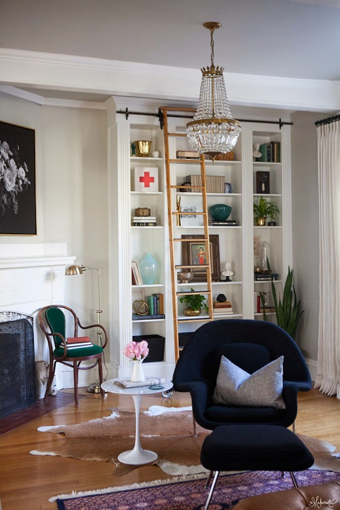 The Beautiful Library Ladder Has A Twin And I Can T Wait To Do Similar Version Of These Built Ins In Our House For Her Glide On Someday