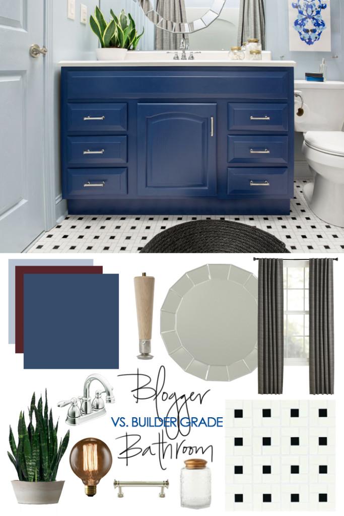 Blogger Vs Builder Grade Bathroom