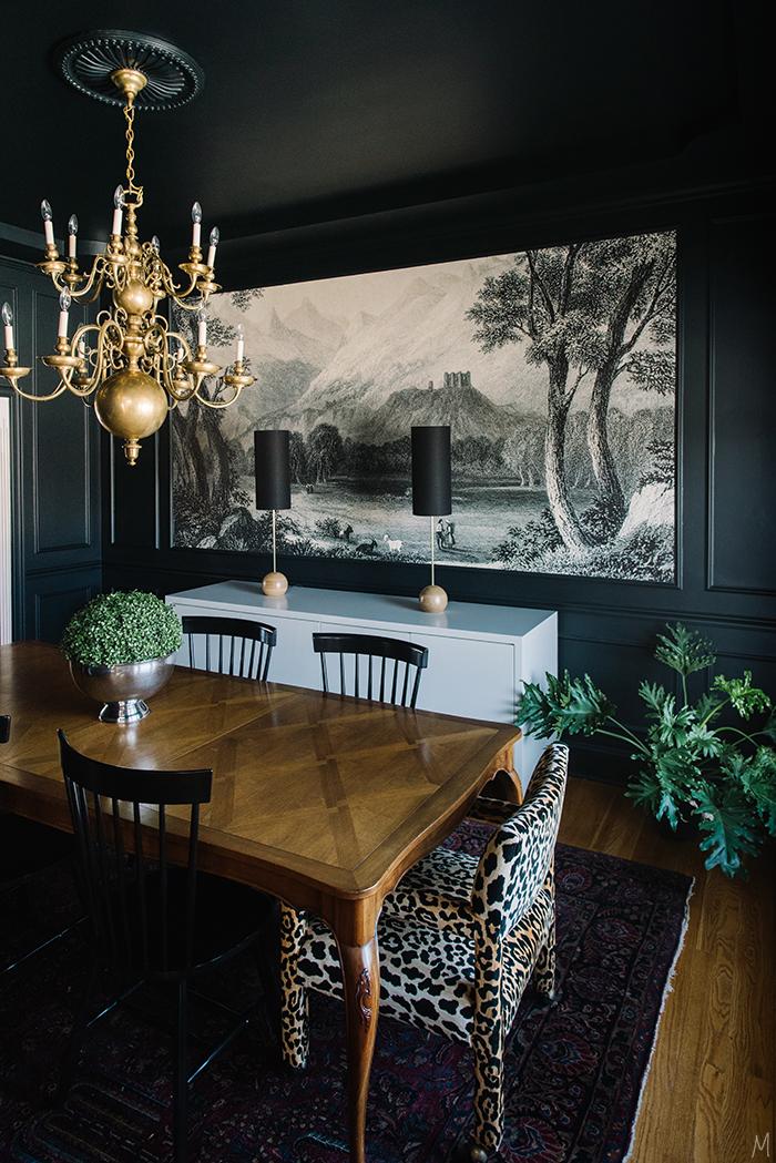 Dining Room Dark Romantic: The Finishing Touches On The Dining Room + A Giveaway
