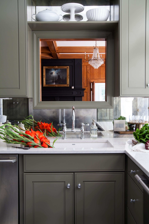 Mirrored Backsplash In The Kitchen The Makerista