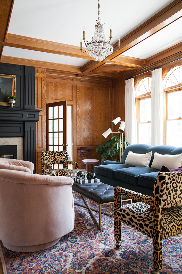 The Makerista Wood Room English Roll Arm Sofa Black Tufted Leather Bench Leopard Parsons Img 1308 The Makerista
