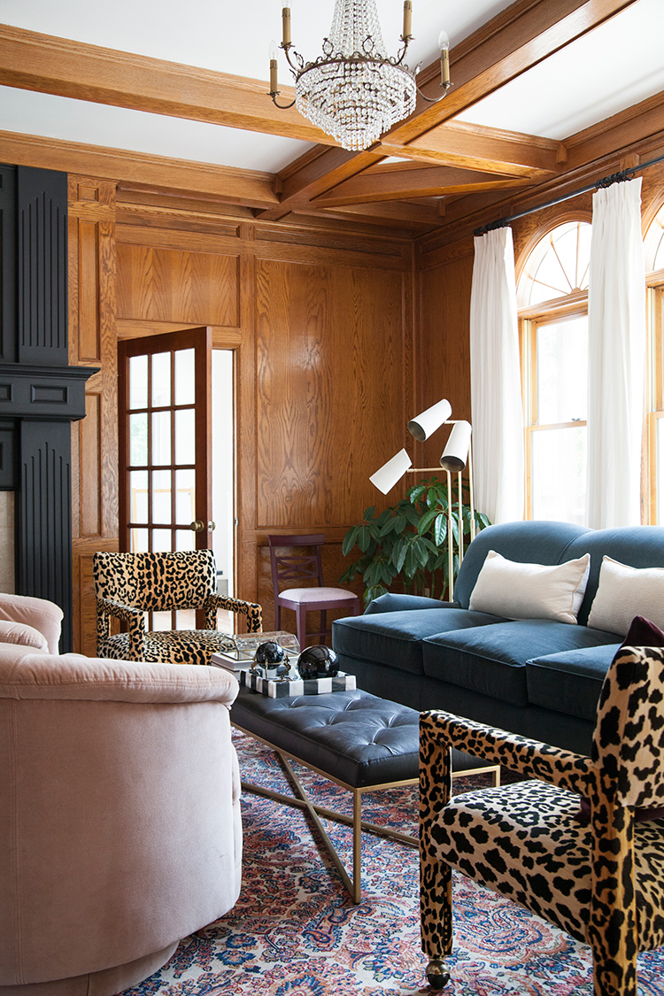 The Makerista Wood Room English Roll Arm Sofa Black Tufted Leather Bench Leopard Parsons Img 1309 The Makerista