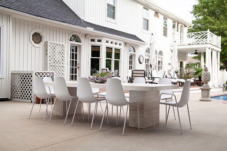 Peachy The Makerista Backyard Modern Kid Friendly Dining Table And Ibusinesslaw Wood Chair Design Ideas Ibusinesslaworg